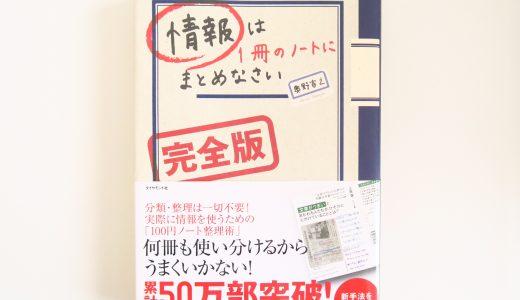 『情報は1冊のノートにまとめなさい』でスケジュール管理も一元化する方法を考えた