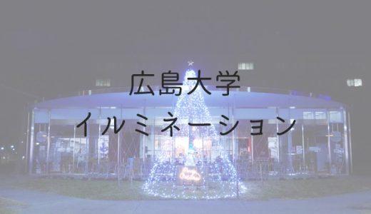 【東広島】広島大学イルミネーションをささやかに楽しむ